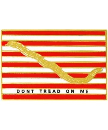 "First Navy Jack ""Don't Tread On Me"" Pin"