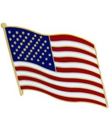 Large Waving US Flag pin