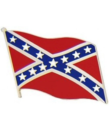 Large Waving Confederate Flag pin