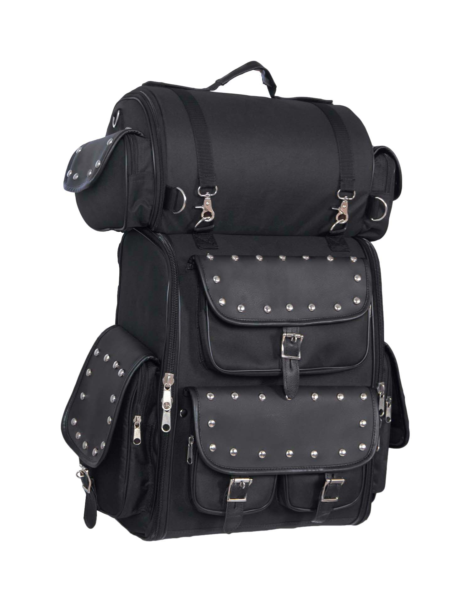 Black Nylon Touring Shelf Bag w/ Studs