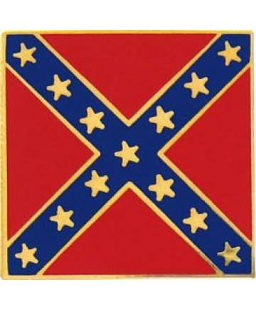 Confederate Battle Flag square pin