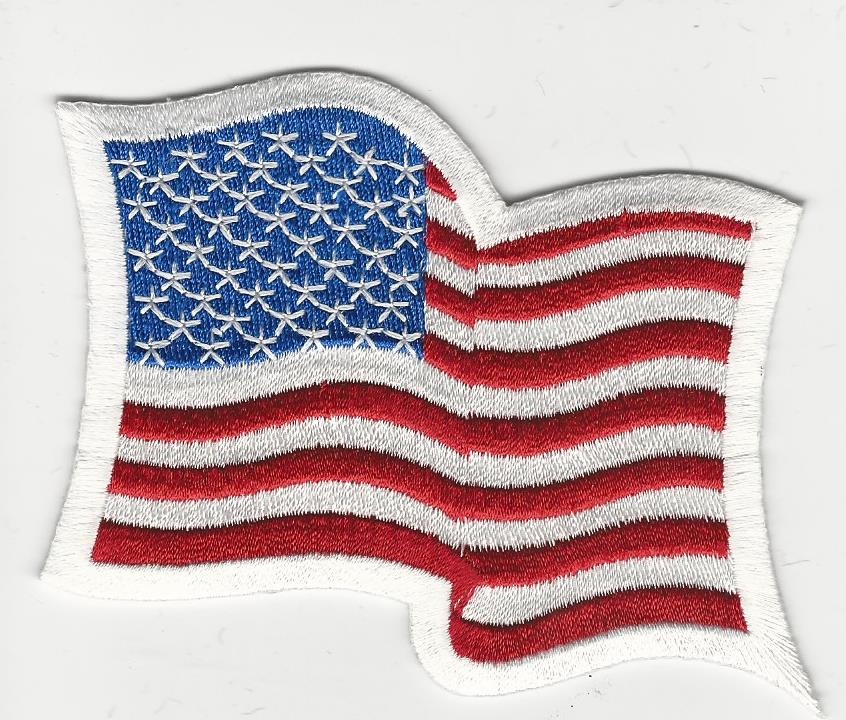 US Waving Flag Patch