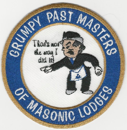 Grumpy Past Masters of Masonic Lodges patch