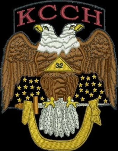 "Scottish Rite 32° KCCH Double Eagle 4"" patch"