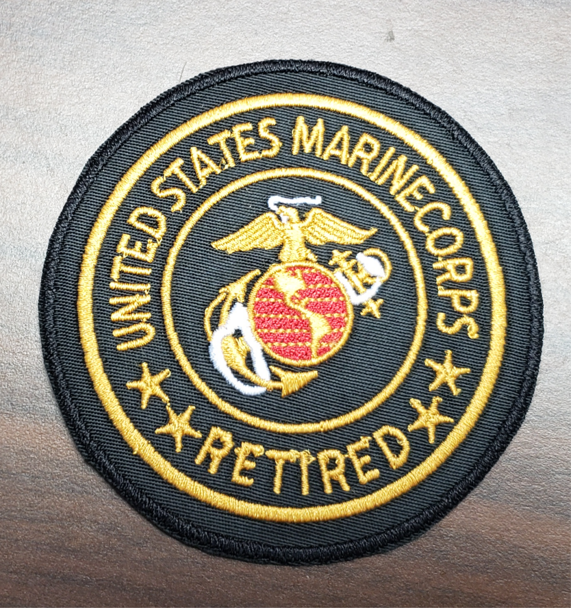 "US Veterans 3"" Retired Marines Patch"