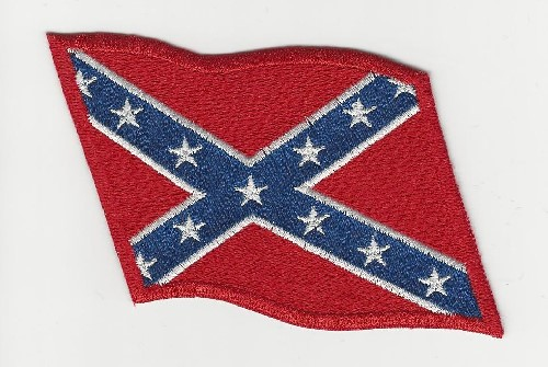 Confederate (Rebel) Flag Waving Patch