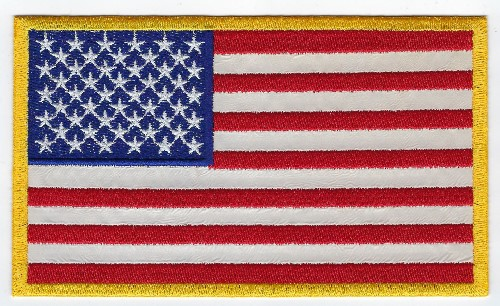 American flag 3.5'x 6' Reflective patch