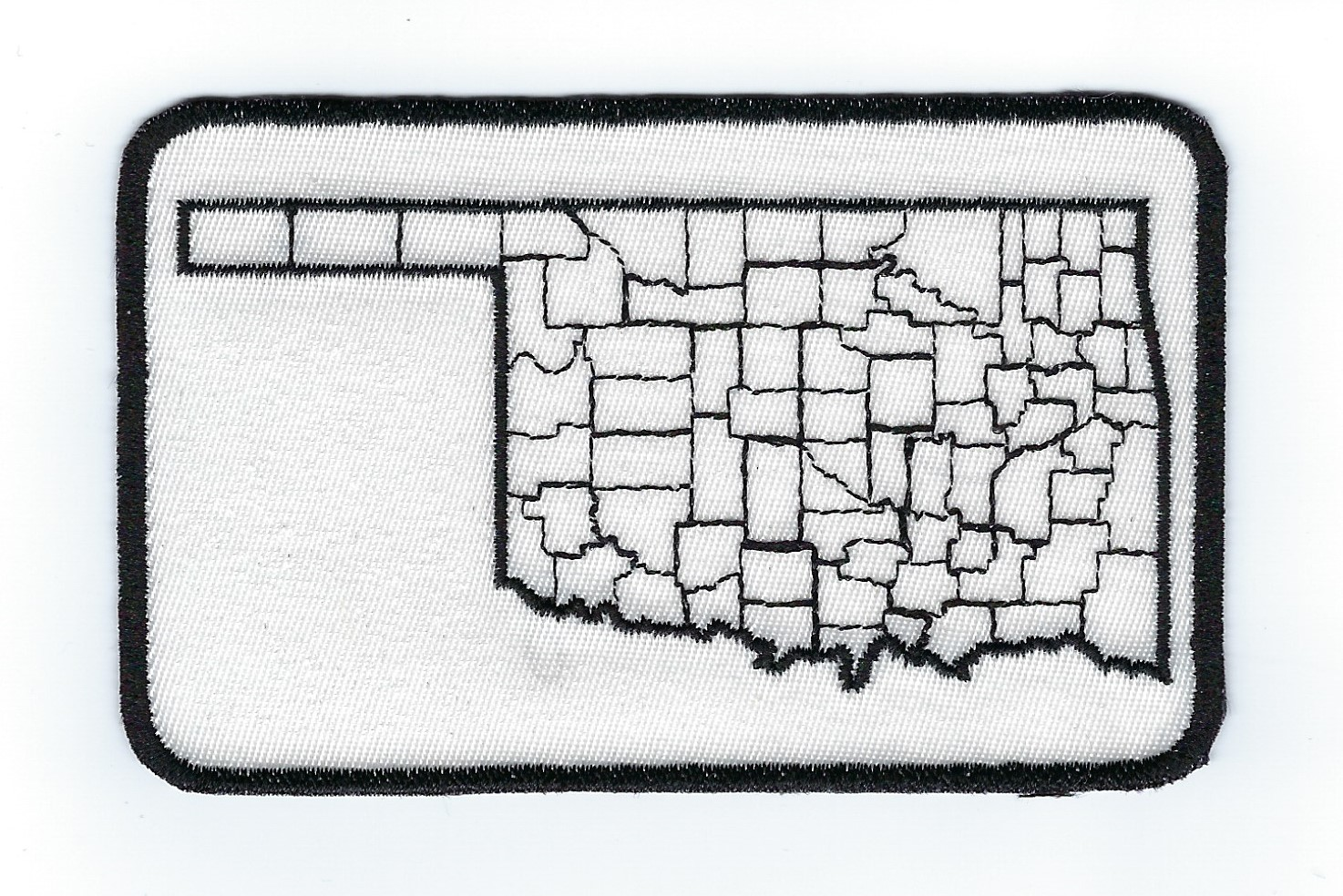 Oklahoma County Map 4' 4.0' x 2.6'