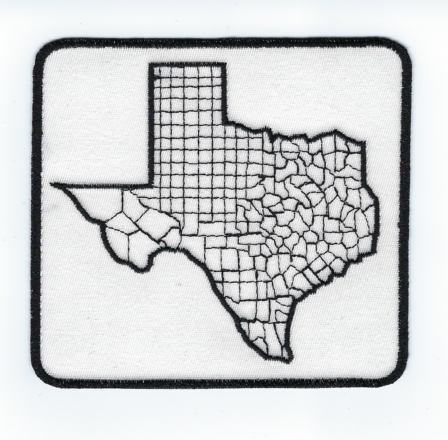 Texas County Map 4' 4.1' x 3.8'