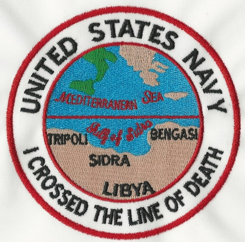 US Navy I Crossed The Line Of Death patch