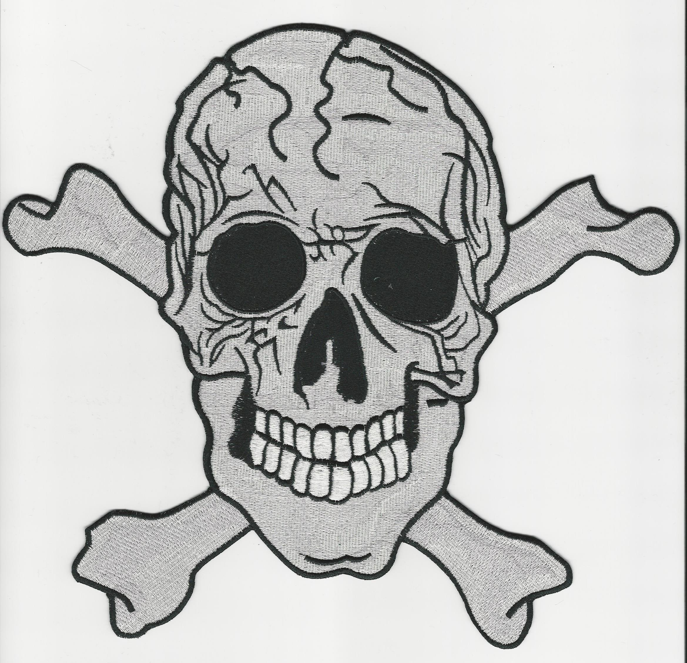Skull and Cross Bones back patch