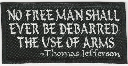 """No Free Man Shall Ever Be Debarred"" Sayings Patch"