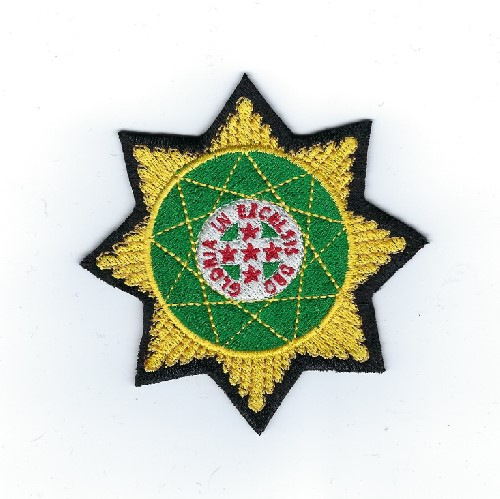 "Royal Order of Scotland patch, 3.5"" star"