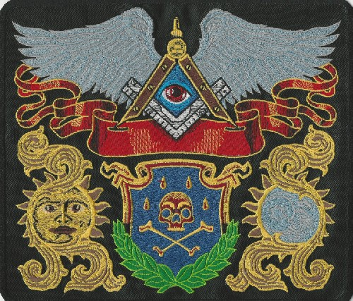 Masonic Emblems back patch