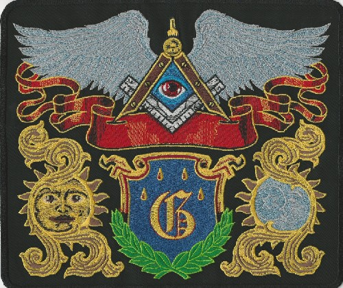 "Masonic Emblems back patch With ""G"""