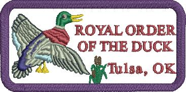 "4"" Royal Order of the Duck Rectangular Patch for Tulsa Scottish Rite"