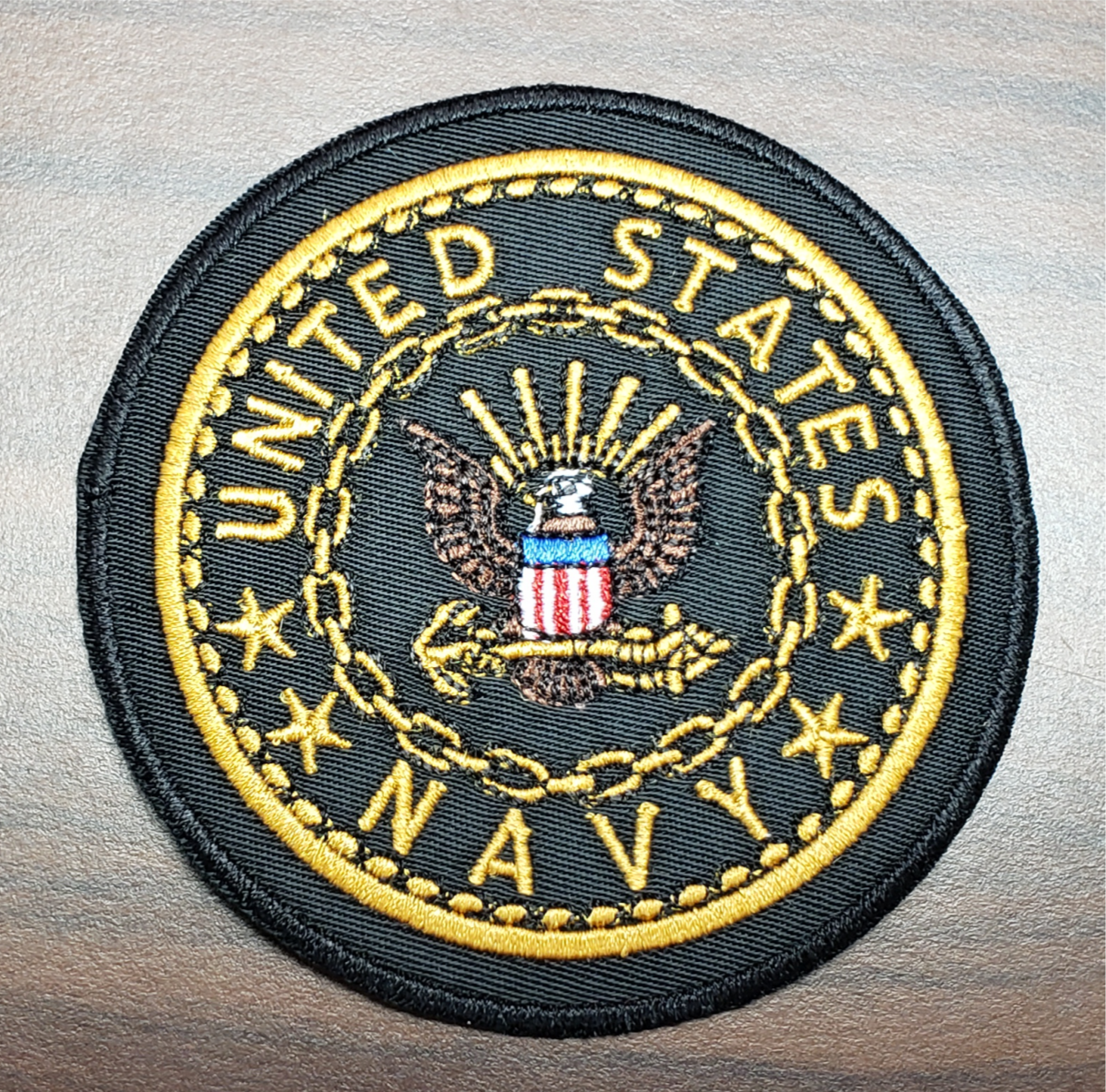 "US Veterans 3"" Navy Patch"