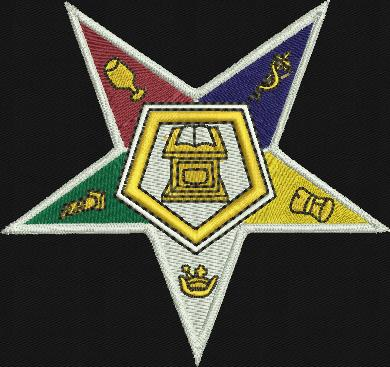 "Order of Eastern Star 4"" Patch"