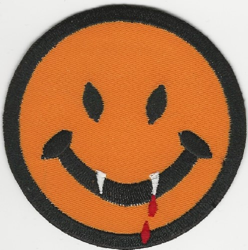 "3"" Vampire Happy Face patch"