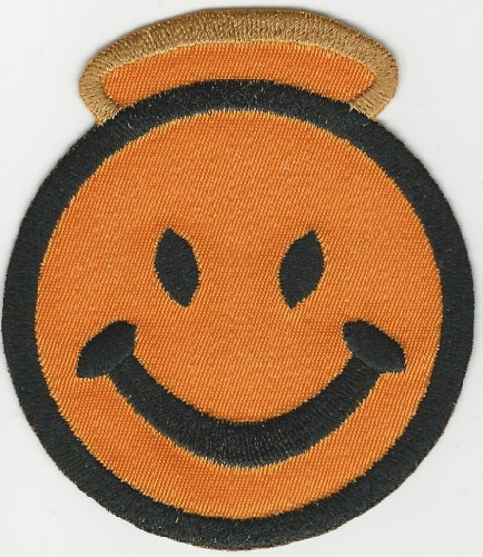 "pat3"" Happy Face w/Halo patch"