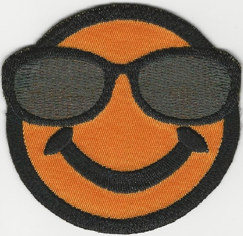 "4"" Happy Face w/Sunglasses patch"