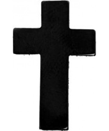 Chaplain Cross Pin (Color: Black)