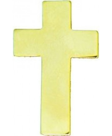 Chaplain Cross Pin (Color: Gold)
