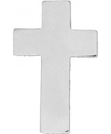 Chaplain Cross Pin (Color: Silver)