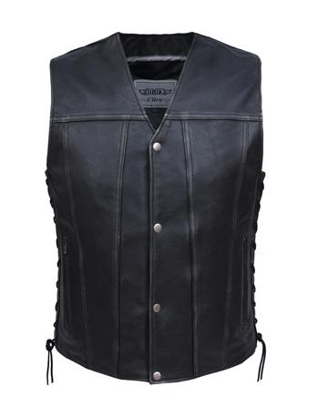 Men's Ultra Leather Durango Gray Vest (Size: Small)
