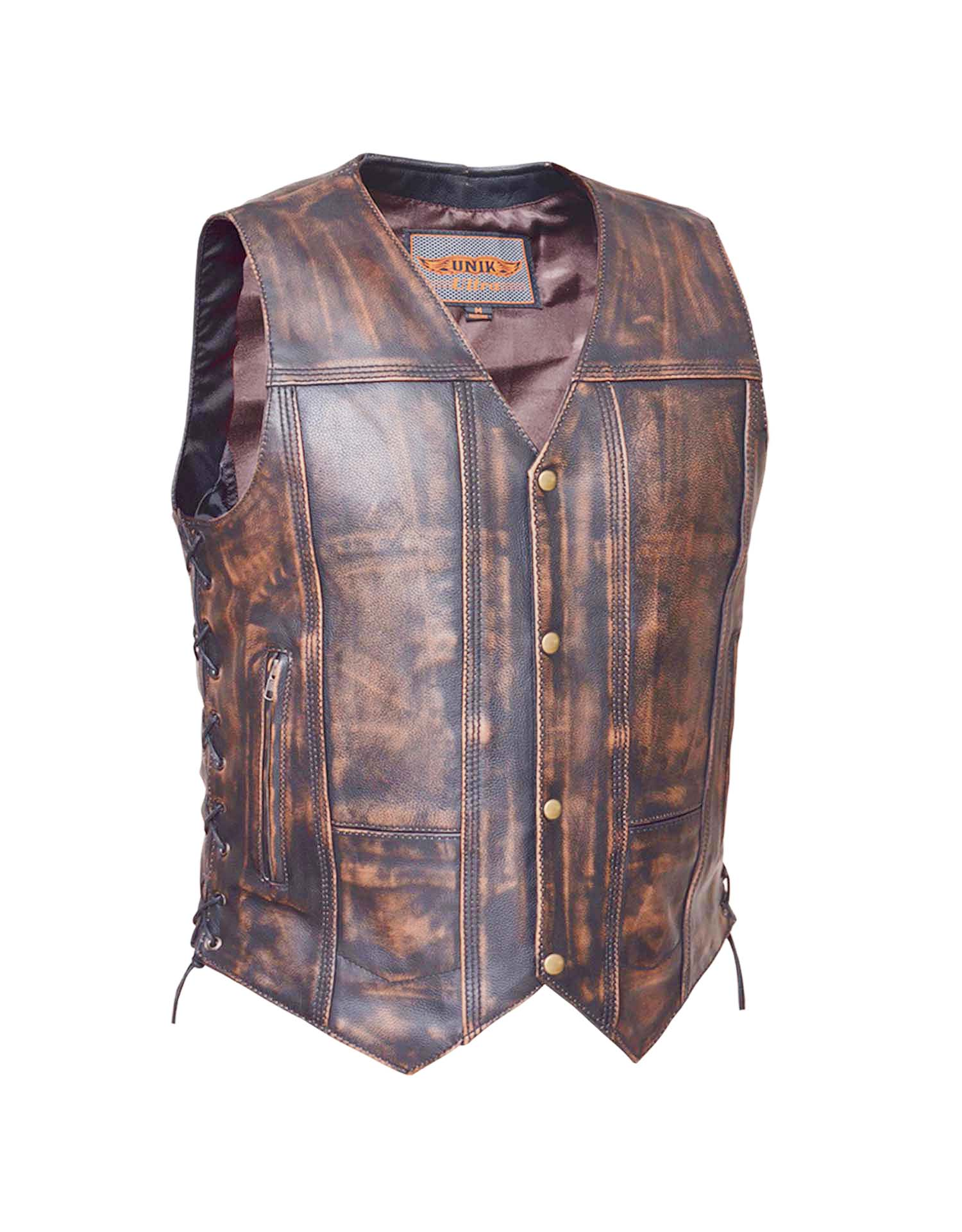 Men's Nevada Brown 10-Pocket Vest (Size: Small)