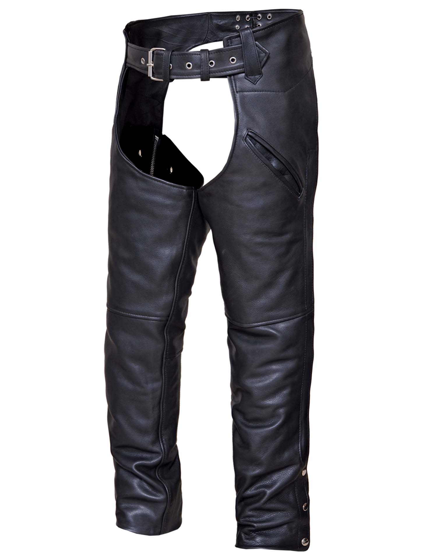 Unisex Ultra Leather Deep Pocket Chaps (Size: 3X-Small)