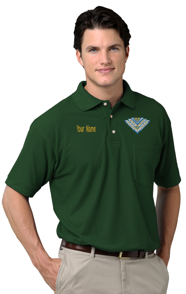 High Twelve Superblend Polo shirt with Pocket (Size: Small, Color: Hunter Green)