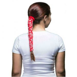 Wrapter Hair Wrap (Color: Red Paisley)