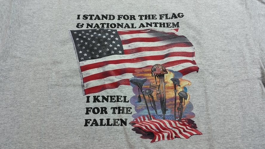 I Stand For the Flag & National Anthem January 2017 Promotional T-Shirt (Size: Large)