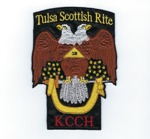 KCCH 32nd Degree Double Eagle patch with Rite name (Scottish Rite: Tulsa)