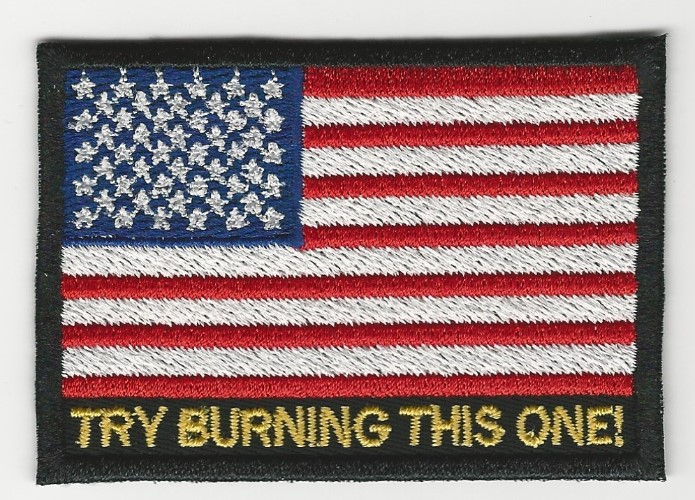 Try Burning This One American Flag patch (Options: Option 1)