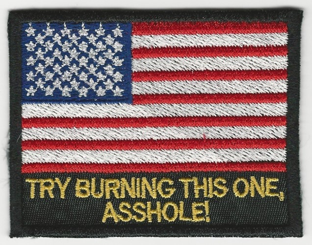 Try Burning This One American Flag patch (Options: Option 2)
