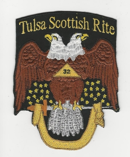 "4"" 32nd Degree Scottish Rite Double Eagle with name & number (Scottish Rite: Tulsa)"