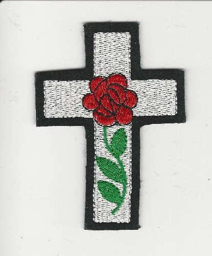 "Rose Croix patch, 3"" (Color: Red)"