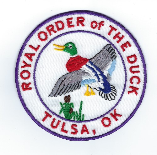 "Tulsa Scottish Rite Royal Order of the Ducks patch (Patch Size: 4"" W x 4"" T)"