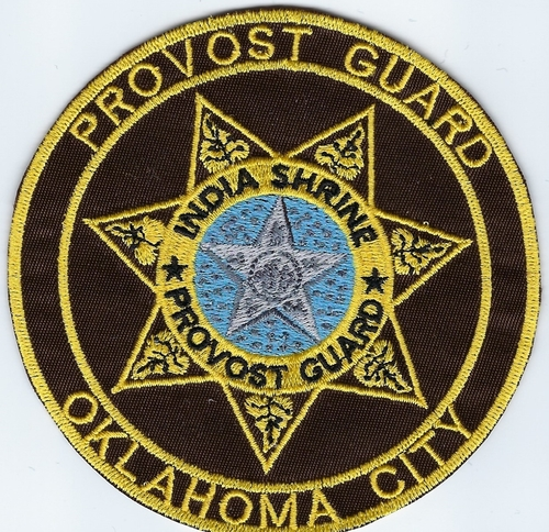 "India Shrine Provost Guard Oklahoma City patch (Patch Size: 3"" W x 3"" T)"